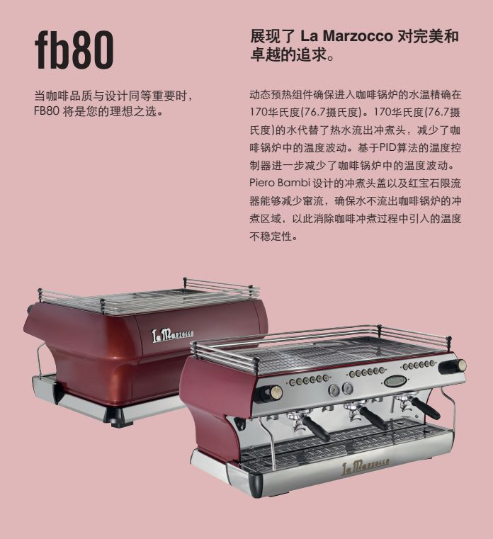 辣妈la marzocco fb80三头电控半自动咖啡机