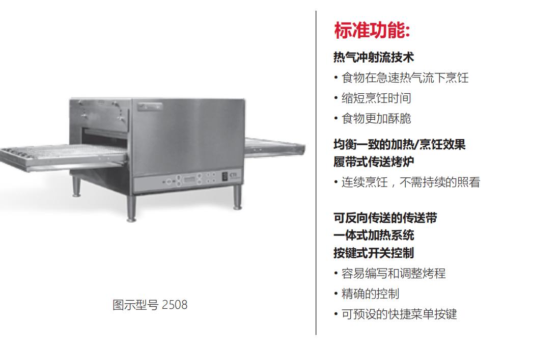 Countertop Impinger (CTI) 桌上型链式烤炉 - 2500系列